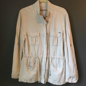 Max Jeans Lightweight Safari Field Jacket Linen